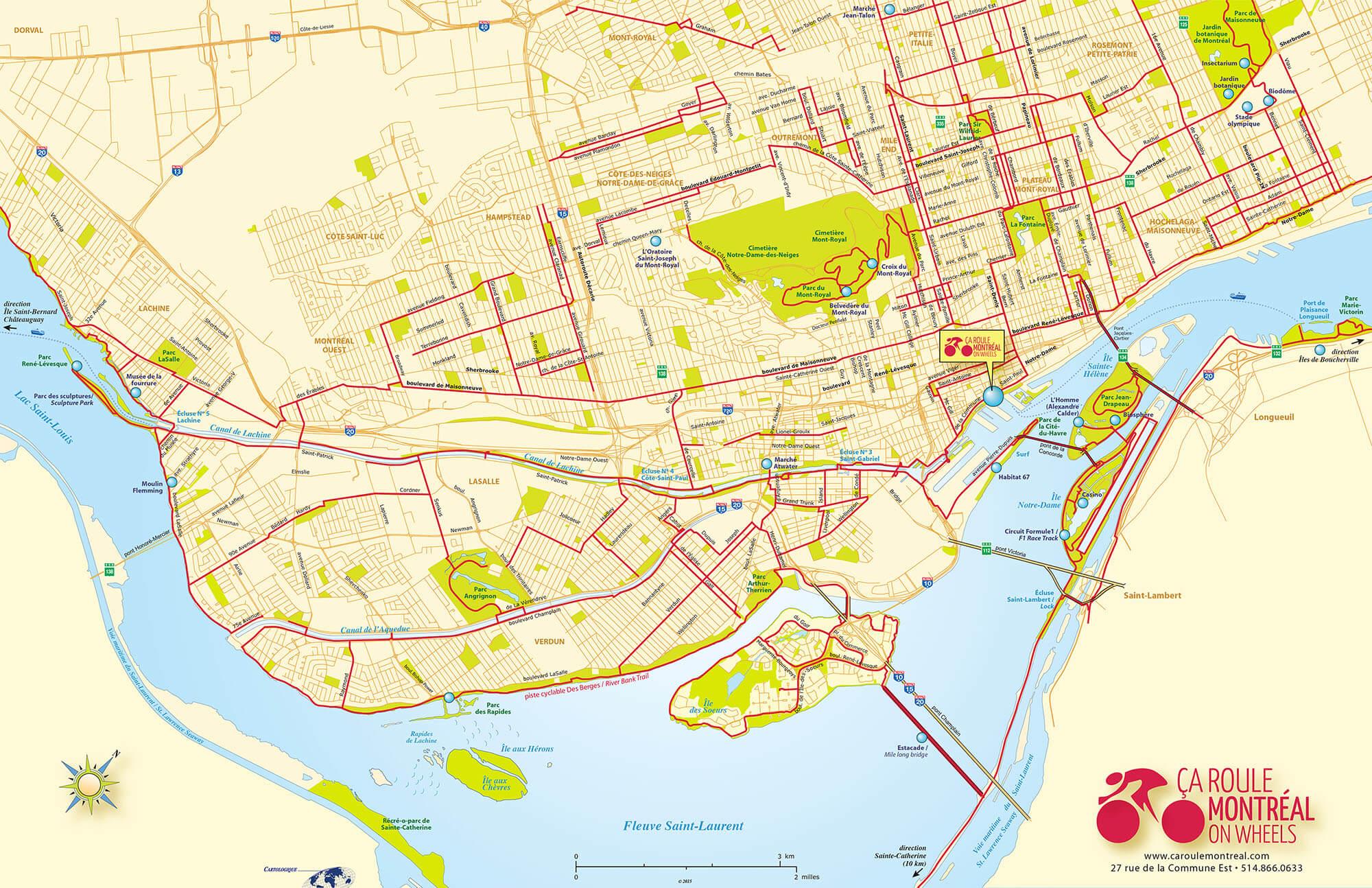 Barclay Bike Map Maps | Ça roule Montréal